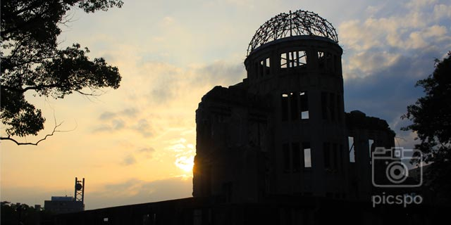 Japan [Hiroshima] Hiroshima Peace Memorial Park and the Genbaku Dome